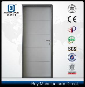 Decorative Aluminum Strips Interior Door with Optional Door Skin Color pictures & photos