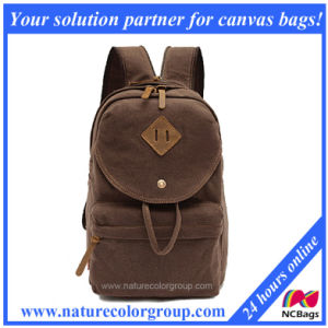 100% Cotton Canvas School Bag Backpack (SBB-027) pictures & photos