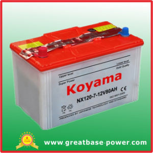 Nx120-7 (12V80AH) Dry Charged Battery for Japanese Car pictures & photos