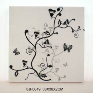Hot Embroidery Fabric Wall Plaque with MDF pictures & photos