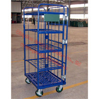 Rail Trolley Cart, Foldable Luggage Cart, Roll Container, Storage Rack Cart, Rack Storage, Folding Shopping Cart, Storage Cart, Tc7128