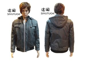 Men Fashion Hoody Casual Padding Winter PVC Jacket (SY-1556) pictures & photos
