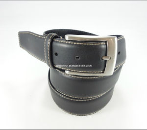 Classic Men Leather Belt with Nickel-Free Buckle (EU8019-35) pictures & photos