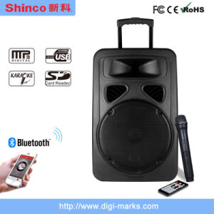 Ce Proved 15 Inches Plastic Portable Outdoor Speaker with Bluetooth pictures & photos