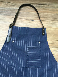Custom High Quality Stripe Denim Barber Apron Wholesale pictures & photos