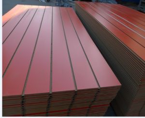 Factory-Melamine Paper Overlaid Slot MDF in 18mm pictures & photos