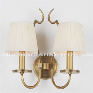 Hot Sale Iron Wall Lamp with Fabric Shade (SL2016-2B) pictures & photos
