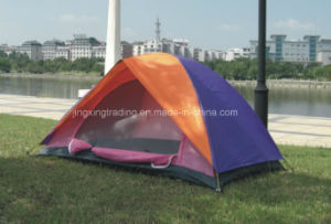 Double-Skin 100% Polyester Camping Tent for 2 Persons (JX-CT003) pictures & photos