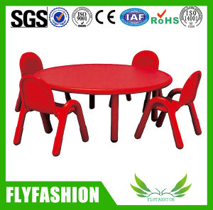 Good Quality Kids Study Round Plastic Table with Chair Set pictures & photos