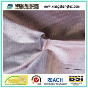 DTY and FDY Polyester Checked Pongee Fabric for Garment pictures & photos