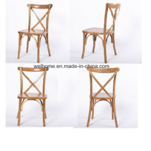 Oak Wood Cross Back Farm Chair/Bentwood Chair for Restaurant pictures & photos