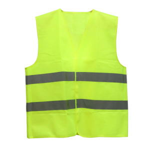 Luorescent Yellow Reflective Safety Vest (100% polyester)