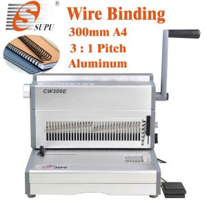 Electric Double Wire Binding Machine for Book Binding (CW300E) pictures & photos