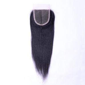Virgin Unprocessed Human Hair Middle Part 4*4 Lace Closure Straight Brazilian Hair/Malaysian Hair/Peruvian Hair/Chinese Hair/Indian Hair