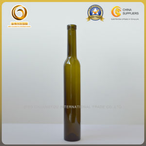 375m Dark Green Corked Glass Bottle for Ice Wine (098) pictures & photos