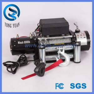 Electric Synthetic Rope Winch 8000lbs 12VDC FCC (DH8000F-S) pictures & photos
