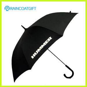 Black 190t Pongee Promotional Brand Name Umbrella with Logo pictures & photos