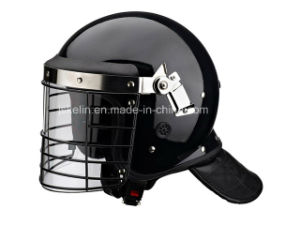 Reinforced Anti Riot Helmet with Artificial Leather Neck Protector pictures & photos