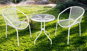 Stacking Wicker Chairs & Table Modern Design Garden Furniture