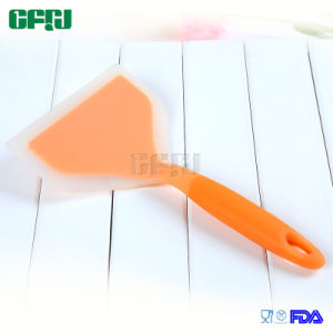 Cooking Utensils Wide Blade Scoop FDA Silicone Spatula with Short Holder pictures & photos