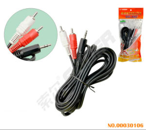 Suoer 3m AV Cable Male to Male 3.5mm Stereo to 2 RCA Audio/Video Cable (AV-23A-3M-white-red Packing) pictures & photos
