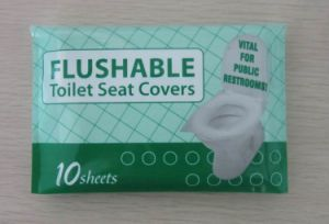 Bathroom Flushable Toilet Seat Cover (Travel pack) pictures & photos