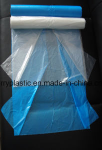 70*110cm HDPE Flat Garbage Bags, C-Folded Bags on Roll pictures & photos