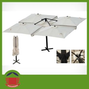 Best Selling Four Head Overhanging Aluminium Garden Parasol pictures & photos