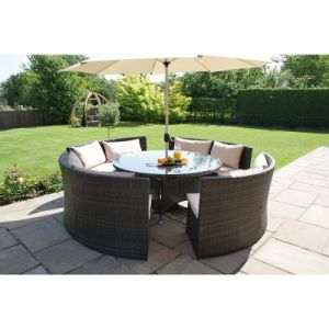 Round Wicker Table Rattan Dining Table Set Round Table