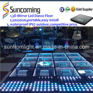 Time Tunnel 3D Mirror LED Dance Floor pictures & photos