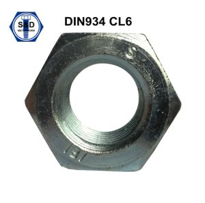 DIN934 Hex Nuts Class6 3cr+Zinc Plated pictures & photos