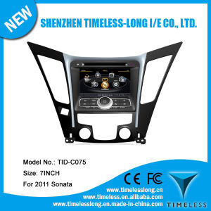 Car Audio for Hyundai Sonata 2011 with Built-in GPS A8 Chipset RDS Bt 3G/WiFi DSP Radio 20 Dics Momery (TID-C075)