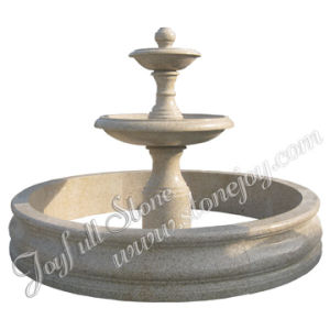 Polished Yellow Granite Fountain