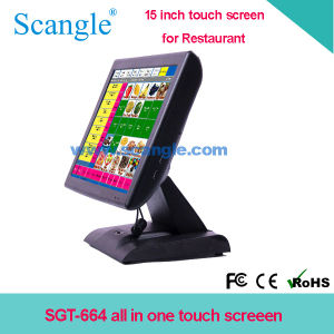Stylish 15′′ All in One Touch Screen POS System with VFD Customer Display for Restaurant pictures & photos