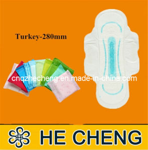 Ultra Thin Women Sanitary Napkin with Wings (Turkey-280) pictures & photos