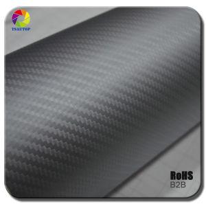 Tsautop 3D Carbon Fiber Vinyl for Car Wrapping& Grey pictures & photos
