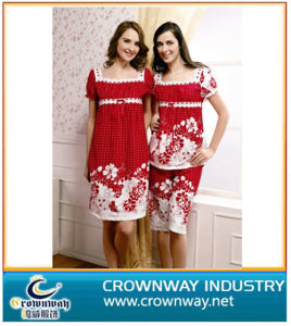 Ladies Fashion Printing Comfortable Cotton Nighties pictures & photos