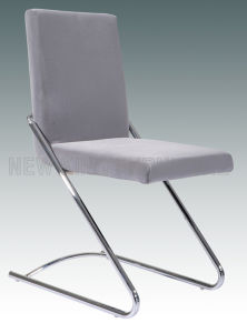 Modern Cheap Fashion Chrome Steel Foot Fabric Dining Chair (NK-DC056) pictures & photos