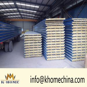 Galvanized Steel Sheet Rockwool Sandwich Wall Panel for Steel Building pictures & photos