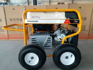 7500 Watts Portable Power Gasoline Generator with RCD and 4 X pneumatic Large Wheels (GP8000SE) pictures & photos