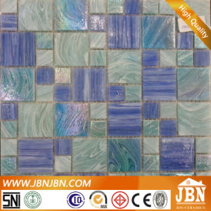 Mix Size Blue Color Swimming Pool Glass Mosaic (H455003) pictures & photos