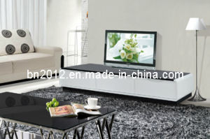 Modern MDF TV Stand with Glass Top (DS-149) pictures & photos