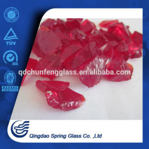 Tumbled Concrete Opaque Red Glass Aggregates pictures & photos
