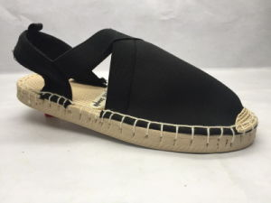 Fashion Jute Sandals with Baumwollen Upper (23LG1712) pictures & photos
