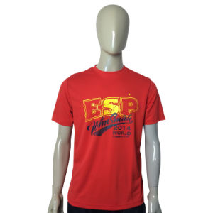 Custom Cotton Short Sleeve Men Red T-Shirts pictures & photos
