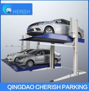 2.7t Double Cylinder Hydraulic Two Post Car Parking Lift pictures & photos