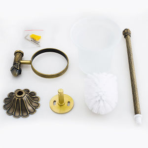 Wall-Mounted Toilet Brush Holder in Antique Brass (BaQaB3004-EL-AB) pictures & photos
