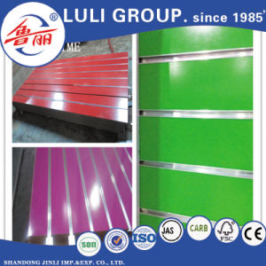 18mm Melamine Laminated Slotted MDF Board for MDF Wall Panel pictures & photos
