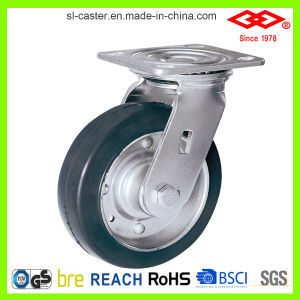 Black Rubber Heavy-Duty Caster (D701-11F100X45) pictures & photos