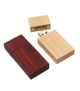 Hotsale Wood USB Flash Drive with Logo Printing/Engraving pictures & photos